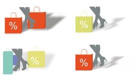 Banderas de la venta ilustración del vector