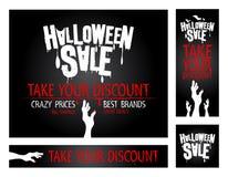 Banderas de la venta de Halloween. Imágenes de archivo libres de regalías