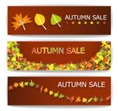 Banderas de la venta del otoño Fotografía de archivo libre de regalías