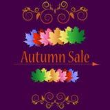 Banderas de la venta del otoño ilustración del vector