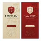 Banderas de la vertical de la asesoría jurídica, de la empresa o de la compañía Imagen de archivo