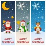 Banderas de la vertical de la Feliz Navidad Fotos de archivo libres de regalías