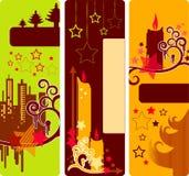 Banderas de la vertical de la Navidad stock de ilustración