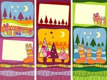 Banderas de la vertical de la Navidad libre illustration