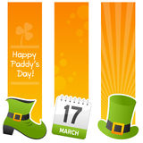 Banderas de la vertical del día de St Patrick s ilustración del vector