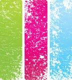 Banderas de la vertical del Grunge Fotos de archivo