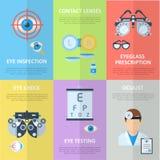 Banderas de la vertical del oftalmólogo o del oculista Fotografía de archivo libre de regalías