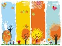 Banderas de la vertical del otoño. Fotografía de archivo