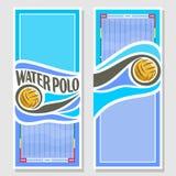 Banderas de la vertical del water polo del vector Fotos de archivo libres de regalías