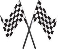 Banderas de las carreras de coches Foto de archivo libre de regalías