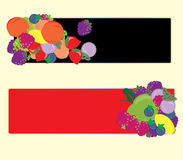 Banderas de las frutas Imagenes de archivo