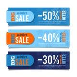Banderas de las ventas del invierno stock de ilustración