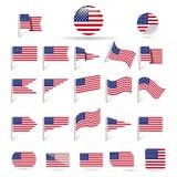 Banderas de los E.E.U.U. Imagen de archivo