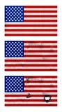 Banderas de los E.E.U.U.  Fotos de archivo libres de regalías