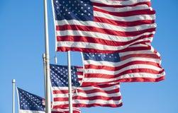 Banderas de los E.E.U.U. Fotografía de archivo libre de regalías