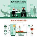 Banderas de los especialistas médicos ilustración del vector
