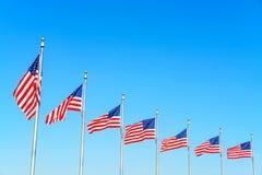 Banderas de los Estados Unidos imagen de archivo libre de regalías