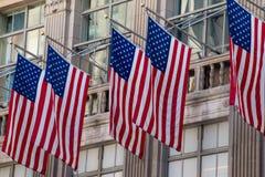 Banderas de los Estados Unidos de América Imágenes de archivo libres de regalías