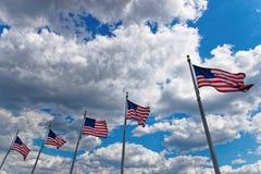 Banderas de los Estados Unidos de América Foto de archivo