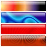 Banderas de los gráficos del web Fotos de archivo