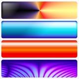 Banderas de los gráficos del web Foto de archivo libre de regalías