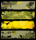 Banderas de los militares de Grunge Fotos de archivo