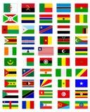 Banderas de los países de África Foto de archivo