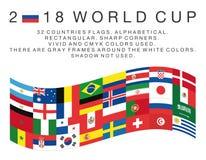 banderas de los países de 2018 mundiales