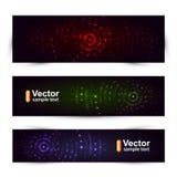 Banderas de los sonidos del vector Fotografía de archivo libre de regalías