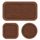 Banderas de madera de Brown Limpie la textura de madera Foto de archivo