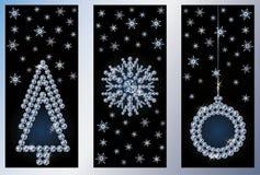 Banderas de Navidad del diamante Foto de archivo