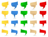 Banderas de Origami Imagen de archivo libre de regalías