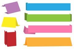 Banderas de Origami stock de ilustración