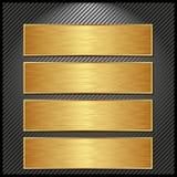 Banderas de oro Foto de archivo libre de regalías