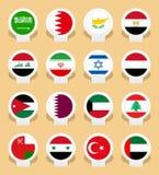 Banderas de país Fotografía de archivo libre de regalías