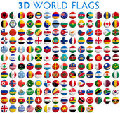 Banderas de país del mundo Imagenes de archivo