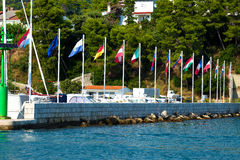 Banderas de país en Croacia Foto de archivo libre de regalías