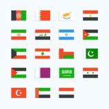 Banderas de país Oriente Medio Fotografía de archivo
