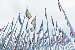 Banderas de países fotografía de archivo