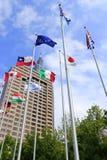 Banderas de países Fotos de archivo libres de regalías