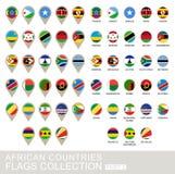 Banderas de países africanos colección, parte 2 Imagen de archivo libre de regalías
