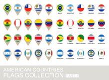 Banderas de países americanas colección, parte 1 Foto de archivo