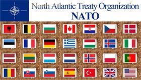 Banderas de países de la OTAN libre illustration