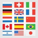 Banderas de países en todo el mundo Imagen de archivo libre de regalías