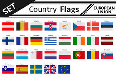 Banderas de países Europa Imagenes de archivo