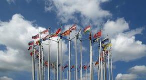 Banderas de países europeos Imagen de archivo libre de regalías