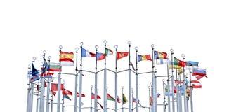 Banderas de países europeos Foto de archivo libre de regalías