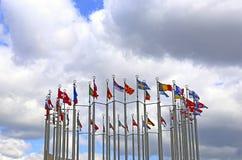 Banderas de países europeos Imágenes de archivo libres de regalías