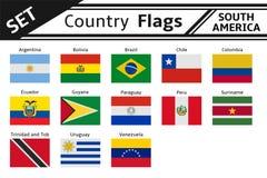 banderas de países Suramérica Foto de archivo libre de regalías