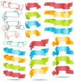 Banderas de papel Imágenes de archivo libres de regalías